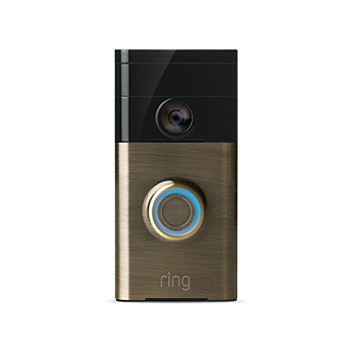 Price comparison product image Ring Wi-Fi Enabled Video Doorbell - Antique Brass