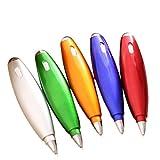 Cosanter 5 Stück Mehrzweck Kreativ Kugelschreiber mit Lanyard und Briefpapier für Büro und Schule