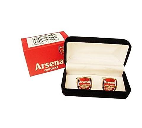 Manschettenknöpfe mit Fußballmanschafts-Wappen, offizieller Fußball-Fan-Artikel, verschiedene Mannschaften verfügbar In offizieller Verpackung, Metall, - Arsenal FC