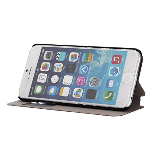 "MOONCASE pour iPhone 6 (4.7"") Case Coque en Cuir Housse de Protection Étui à rabat Case Mi17 Mi10 #1130"