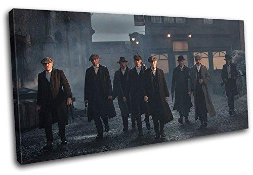 Bold Bloc Design - Peaky Blinders Television Show TV 180x90cm SINGLE Boite de tirage d'Art toile encadree photo Wall Hanging - a la main dans le UK - encadre et pret a accrocher - Canvas Art P