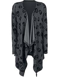 Fashion Victim Skull Cardigan Cardigan pour Femme gris