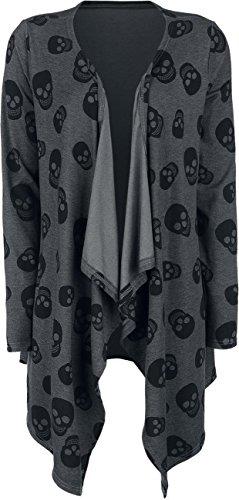 Fashion Victim Skull Cardigan Cardigan donna grigio XXL