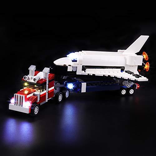 LIGHTAILING Conjunto de Luces (Creator Transporte de la Lanzadera) Modelo de Construcción de Bloques - Kit de luz LED Compatible con Lego 31091 (NO Incluido en el Modelo)
