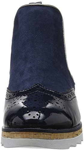 Marco Tozzi Damen 25403 Chelsea Boots Blau (Navy Comb 890)