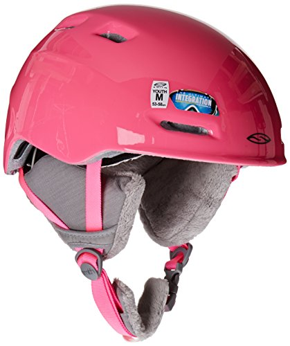 SMITH OPTICS, Set Casco/ Maschera da sci e snowboard Gamblerzoom Jr., Rosa (Brigh Pinkcupcakes)