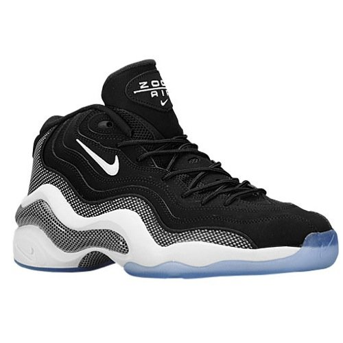 Nike Air Zoom Flight 96 Herren Hi Top Basketball Trainer 317980 Sneakers Schuhe, schwarz/weiß - Größe: 49.5 EU M - Herren Flight Nike Basketball-schuhe