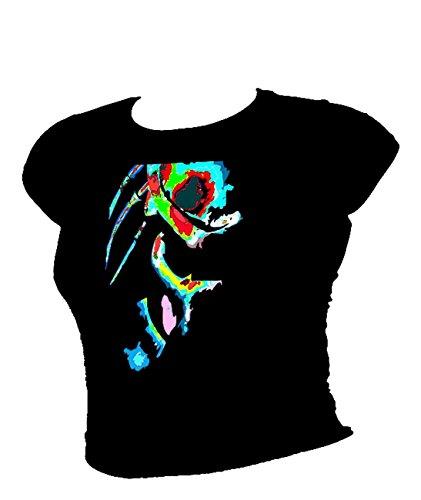 Blue Ray T-Shirts Damen T-Shirt Schwarz