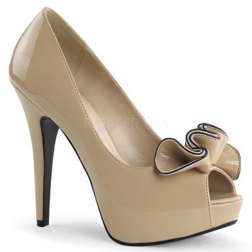 LOLITA-10 - Pleaser USA Shoes Cream/Cream