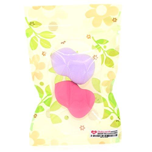 Dolovemk 2 pcs/lot éponge de maquillage blender Fond de teint Beauté Houppette Œuf de mixage, Mini Taille 4 cm. Hauteur, 8 G. Poids (sans latex)