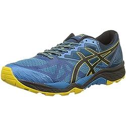 Asics Gel-Fujitrabuco 6, Zapatillas de Trail Running para Hombre, Multicolor (Turkish Tile/Black/Lemon Curry 4690), 46 EU