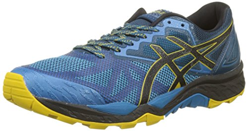 Asics Gel-Fujitrabuco 6, Zapatillas de Running para Hombre, Multicolor (Turkish Tile/Black/Lemon Curry 4690), 43.5 EU