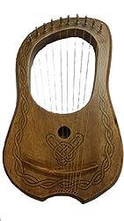 Tc Lyra Harfe 10Metall-saiten Palisanderlyra Harfe Rosewood 10Saiten Free Fall