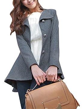 Cola de Milano Abrigos Mujer Chaqueta de Elegante Abrigo Trench Jacket Outwear