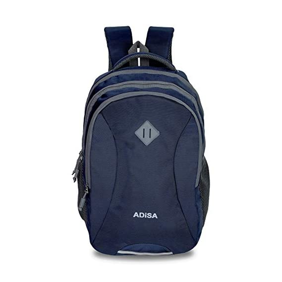 ADISA BP023 Navy Casual 32 litres Laptop Backpack with rain Cover