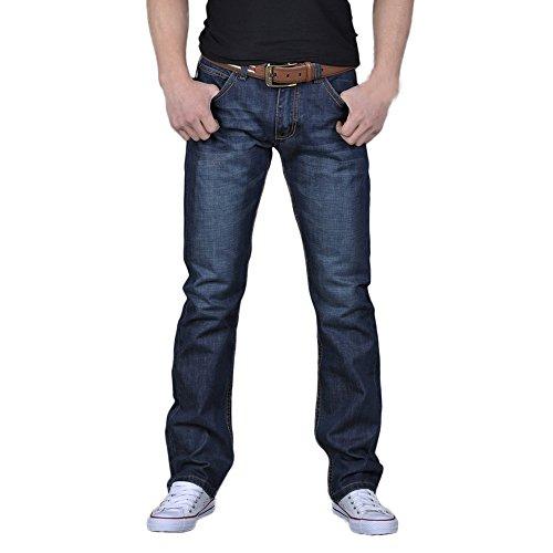 Pantalones Vaqueros Largo Recto Hombres,ZARLLE Hombres Denim Moda Pantalones Slim Fit Motocicleta...