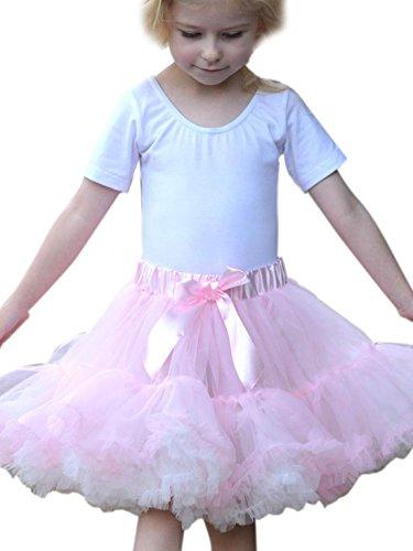 erdbeerloft - Mädchen Kostüm Karneval Prinzessin Ballettröckchen Tütü, Rosa Weiß, Größe 98-128, 3-8 (Bühne Biest Das Die Und Schöne Kostüme)
