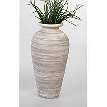 moderno jarrn decorativo cermica jarrn suelo de flor crema marrn