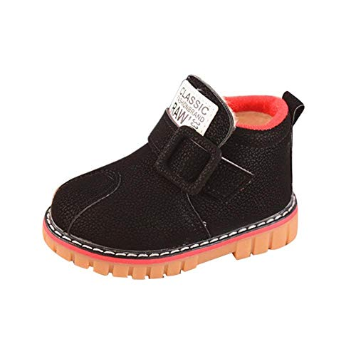 Coupon Matrix - POIUDE Baby Shoes Sale Kid Girls Boys Letter Leather Waterproof Snow Short Boots Kids Baby Casual Shoes Sneaker(Black, 18M-24Months)