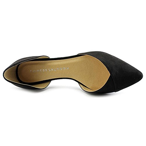 Chinese Laundry Z-Eternal Love Simili daim Chaussure Plate Black