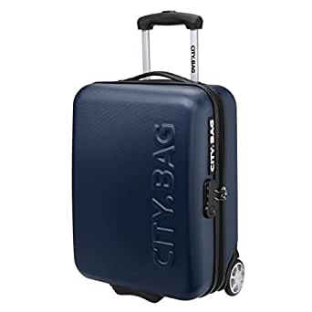 City bag valise cabine low cost abs 2 roues 48 cm cabin bleu marine