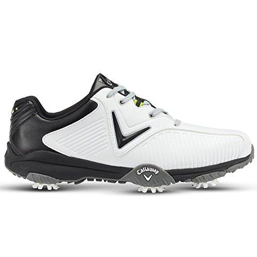 Callaway Men's Chev Mulligan Golf Shoes, White (White/Black), 8 UK