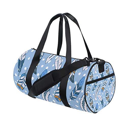 Ahomy Sports - Bolsa de Deporte con diseño de atrapasueños y Plumas Azules