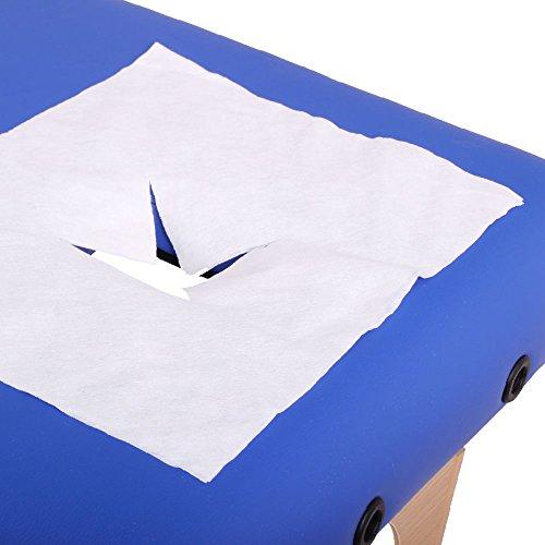 Promafit 100 Einwegauflagen für die Massageliege mit Gesichtsloch / Atemloch - perfektes Massagezubehör
