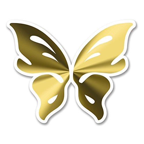 2x 10cm Joli mariposa adhesivos decorativos de vinilo para ordenador portátil casco de bicicleta para coche Tablet Fun # 6272