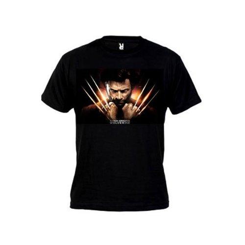 Camiseta Lobezno x-men (Talla: Talla M Unisex Ancho/Largo [53cm/72cm] Aprox], Color: Negro)