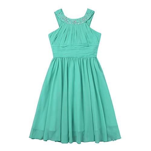 11554a6c1 ... iEFiEL Vestido Corto De Comunión para Niña (4-14 Años) Infantil Vestido  De ...