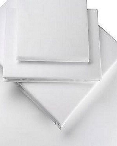 """Extra Deep (16""""), 200 Thread Count Egyptian Cotton Fitted Bed Sheet, by Viceroybedding (Single, White)"""
