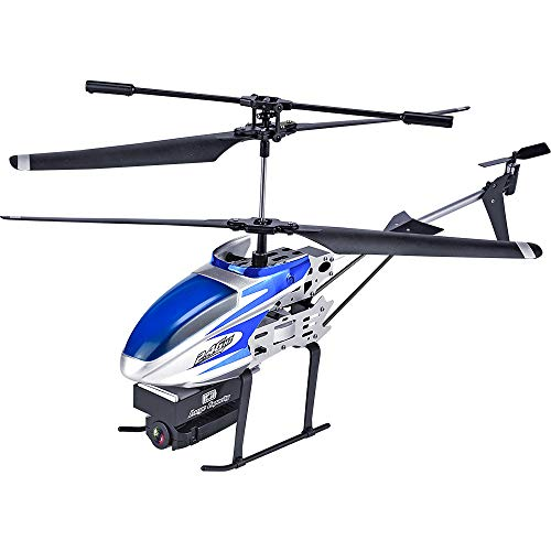HUAXING RC Helicopter, 2.4GHz 3.5CH Drone Gesture Photo WiFi FPV 1080P HD Telecamera Attitude Hold One Key off/Land RTF,Blue