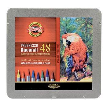 koh-i-noor-progresso-woodless-aquarell-coloured-pencils-set-of-48