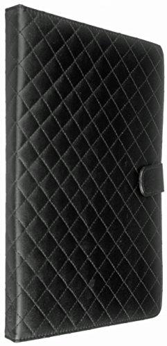 galaxy tab 4 display Trendz PU Leder Quilted Folio Case Cover Schutzhülle in Stepp-Optik mit integriertem Stand für 9-10 Zoll Tablet Kompatibel mit iPad 2/3/4, iPad mit Retina Display, Samsung Galaxy Tab 2 10.1, Tab 3 10.1 und Note 10.1, Google Nexus 10 und Sony Xperia Tablet Z - Schwarz