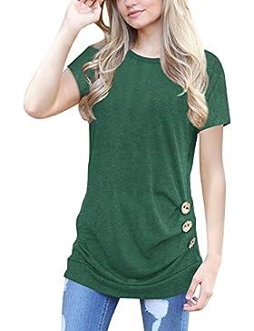 Blazar Donna Camicia Estate Maglietta Oversize Sportiva Camicetta Maglia Maniche Corte T Shirt Tee