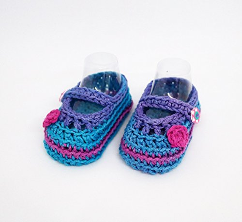 Baby girl booties, Crocheted baby shoes, Mary Jane Shoes, Summer shoes, Summer sandals, Multicolored shoes, Baby shoes, Baby sandals, Baby girl booties