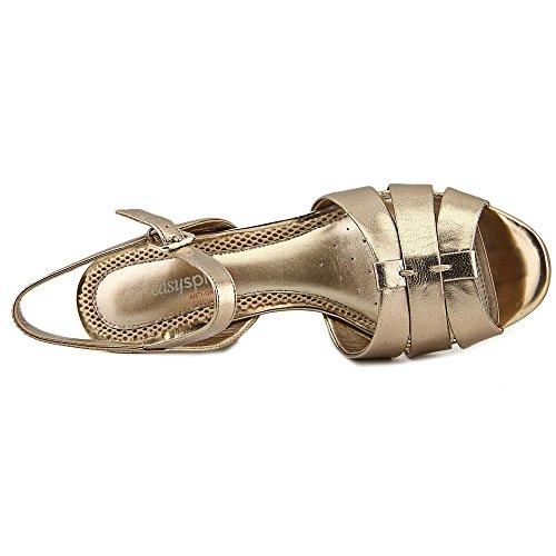Easy Spirit Berdina Cuir Sandales Compensés gold