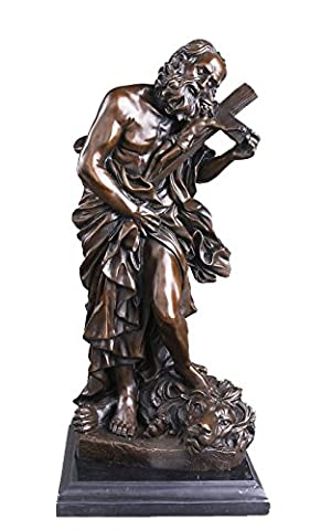 Toperkin Metal Home Decor Classical Male Figurines Lion Bronze Sculptures Statues TPY-124