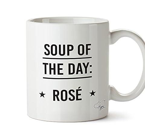 Hippowarehouse soupe du jour Rosé 283,5gram Mug Cup, Céramique, blanc,