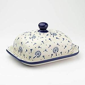 Polish Pottery Butter Dish Dandelion