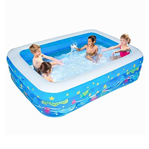 Der aufblasbare Swimmingpool der Kinder, der Säuglinge Erwachsenen Haushaltsbadefassmarineballpool verdickt, kann 1-6 Leute unterbringen
