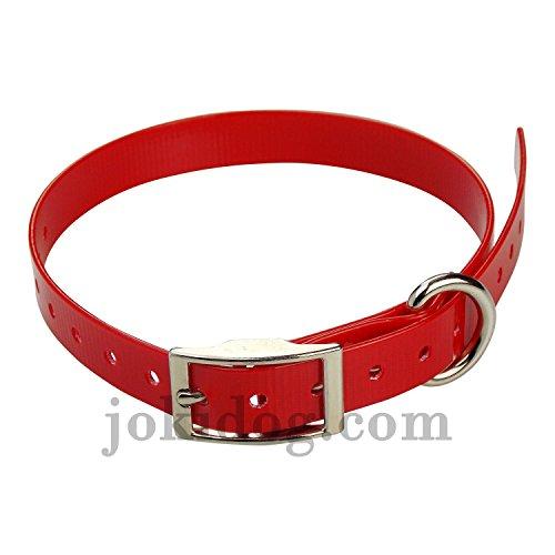 sangle pour collier Garmin Mini T5 , TT15 - 19 mm x 60 cm x 2 mm rouge