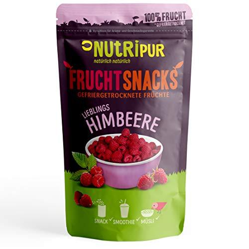Himbeeren gefriergetrocknet 25g I Ganze getrocknete Himbeeren ungezuckert I 100% Frucht, voller Geschmack