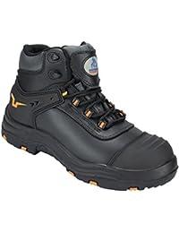 Boots And Braces Easy 8-Loch Burgundy Rub-Off Leder Schwarz Rot Stiefel Schuhe
