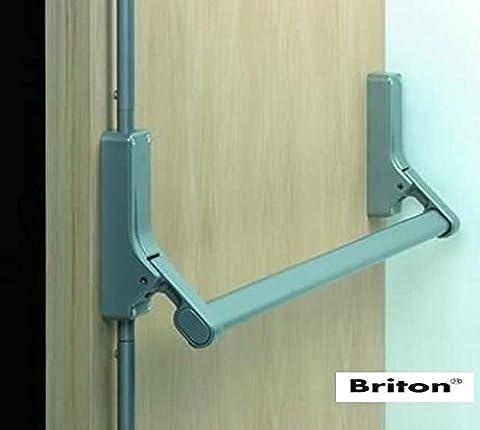 BRITON 376E/SE VERTICAL PANIC FIRE DOOR BOLT BAR ESCAPE SILVER