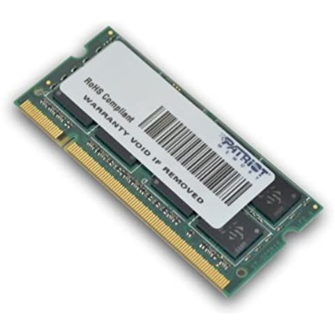 Patriot Memory DDR2 2GB CL6 PC2-6400 (800MHz) SODIMM - Memoria (2 GB, DDR2, 800 MHz, 1.8 V)