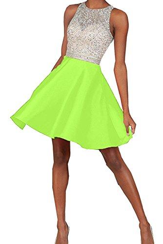 Toscana sposa Chic a forma di cuore stanotte vestimento Kurz Chiffon sposa giovane dal Cocktail Party ball vestimento Verde