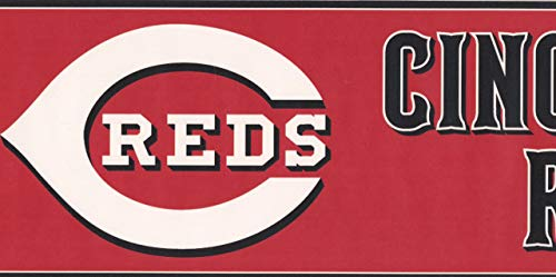incinnati Reds MLB Baseball Team Fan Sport Wallpaper Border Modern Design, Roll-15' x 6'' ()