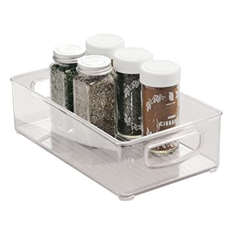 InterDesign Kitchen Cabinet and Pantry Organizer Bin - 25.5 cm x 15.25 cm x 7.5 cm, Clear